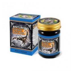 Черный тайский бальзам Binturong с ядом скорпиона, 50 гр.