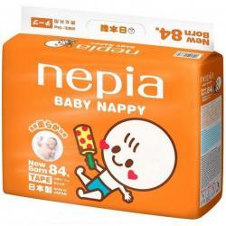 """Детские подгузники """"Nepia Baby Nappy"""" (для мальчиков и девочек) 84шт 0-5кг (Размер NB)"""