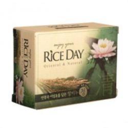Мыло с рисовыми отрубями, лотосом и хауттюнией Rice Day