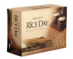 Мыло с рисовыми отрубями с маслом рисовых отрубей Rice Day
