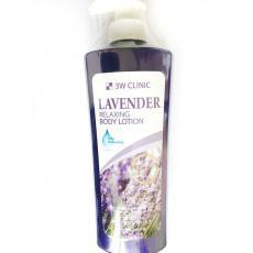 Расслабляющий лосьон для тела с лавандой, 550мл 3W CLINIC Relaxing Body Lotion Lavender
