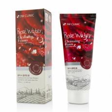 3W CLINIC Пенка для умывания натуральная Розовая Вода Rose Water Foam Cleansing, 100 мл