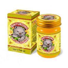"""Желтый антицеллюлитный бальзам с куркумой и имбирем Binturong """"Anti-cellulite Balm"""", 50гр"""