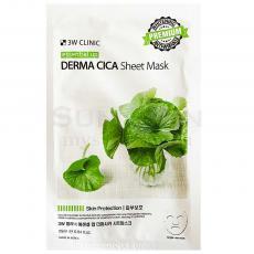 3W CLINIC Essential Up Derma CICA Sheet Mask Тканевая маска для лица с центеллой, 1шт