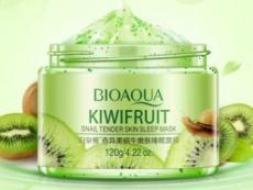 BIOAQUA KIWIFRUIT Ночная маска для лица с экстрактом киви и слизью улитки, 120g