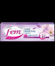 Крем для удаления волос (депиляции) FEM U.S.A. с цветочным экстрактом 120 гр + 6 пакетиков лосьона