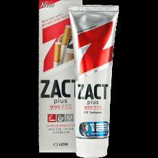 Зубная паста для курящих Zact Plus отбеливание, свежесть, увлажнение 150 гр