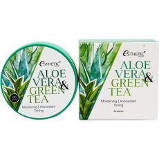 ESTHETIC HOUSE Aloe Vera & Green Tea Hydrogel Eye Patch/ Гидрогелевые патчи с алоэ и зеленым чаем, 60шт