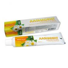 Натуральная зубная паста Ромашка-Мята укрепление изащита воспаленных и чувствительных десен Aasha Herbals 100 мл.