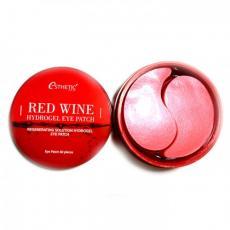 Гидрогелевые патчи для кожи вокруг глаз с экстрактом красного вина ESTHETIC HOUSE Red Wine Hydrogel Eye Patch, 60шт